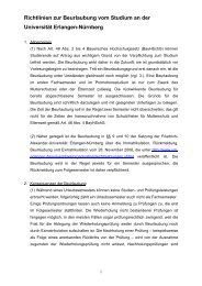Richtlinien zur Beurlaubung vom Studium an der Universität ...