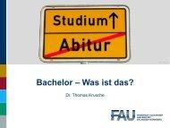 Bachelor – Was ist das?