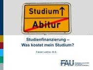 Studienbeiträge, -kosten und -finanzierung