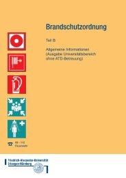 Brandschutzordnung F - Friedrich-Alexander-Universität Erlangen ...