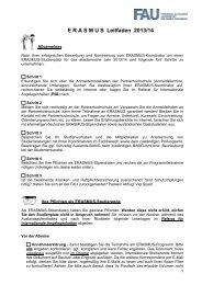 E R A S M U S  Leitfaden 2013/14 - Friedrich-Alexander-Universität ...