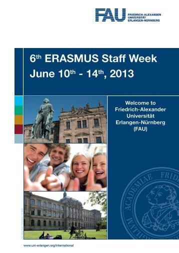 Programme June 2013 - Friedrich-Alexander-Universität Erlangen ...