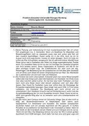 Erfahrungsbericht Auslandsstudium - Friedrich-Alexander ...