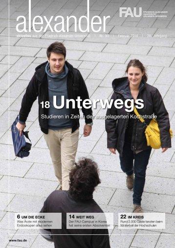 Unterwegs - Friedrich-Alexander-Universität Erlangen-Nürnberg