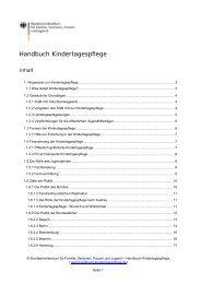 Handbuch Kindertagespflege: 1. Wegweiser zur Kindertagespflege,