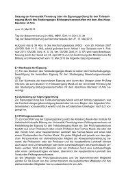 Eignungsprüfungssatzung Musik Vom 13. Mai 2013 - Universität ...