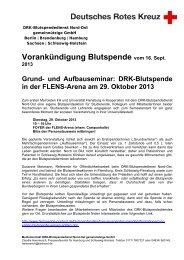Vorankündigung Blutspende vom 16. Sept. - Universität Flensburg