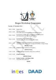 DRAFT Biogas workshop agenda