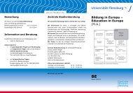 Bildung in Europa - Universität Flensburg