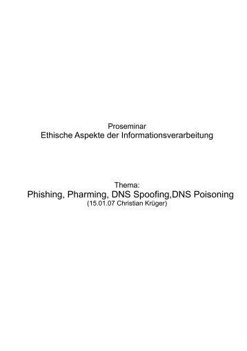 Phishing, Pharming, DNS Spoofing,DNS Poisoning