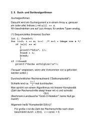 2. 5. Such- und Sortieralgorithmen Suchalgorithmen Gesucht wird ...