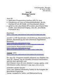 Java 3D Einstiegskurs, Teil 1 (PDF)
