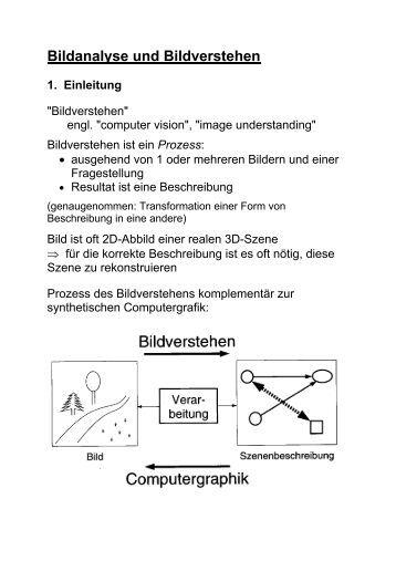 Bildanalyse und Bildverstehen 1. Einleitung