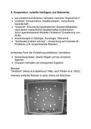 9. Kooperation, verteilte Intelligenz und Netzwerke • wie entsteht ...