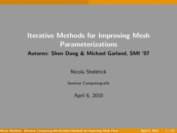 Iterative Methods for Improving Mesh Parameterizations