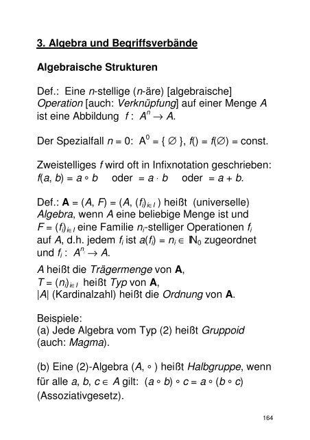 Algebraische Strukturen (PDF) - GWDG