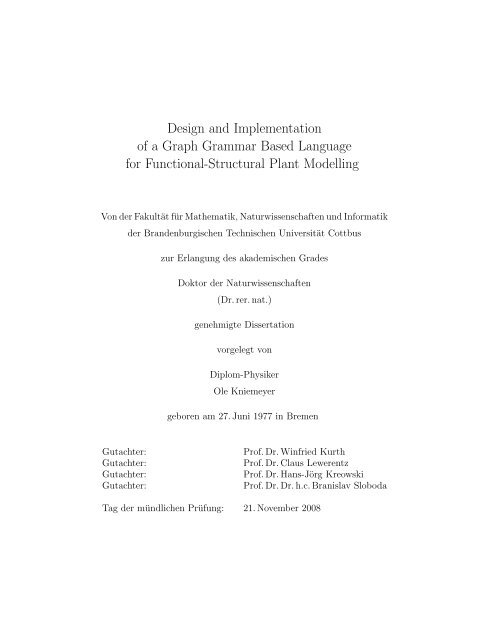 Design and Implementation of a Graph Grammar Based ... - Opus