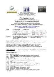 Summer School Modelling and Simulation with GroIMP