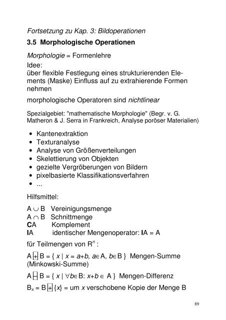 Morphologische Operationen (PDF)