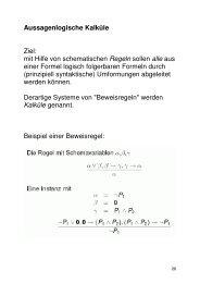 Aussagenlogische Kalküle (PDF) - GWDG