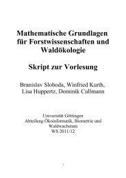 Mathematische Grundlagen für Forstwissenschaften - Fakultät für ...