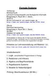 Aussagenlogik: Syntax, Semantik, Normalformen, Horn ... - GWDG