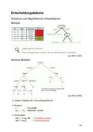 Teil 6: Entscheidungsbäume (PDF) - GWDG