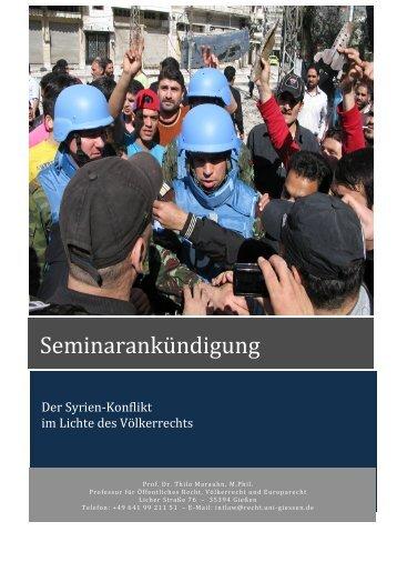 Seminar Syrien WS 2013-14