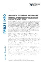 Pressemitteilung - Justus-Liebig-Universität Gießen