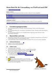 Demo-Datei für die Umwandlung von WinWord nach PDF