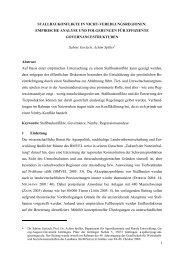 stallbaukonflikte in nicht-veredlungsregionen - AgEcon Search