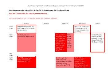 Orientierungsmodul B.Kug.01-11/B.Kug.01-12: Grundlagen der ...