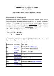 Biologische Wirkung ionisierender Strahlung-Studenten