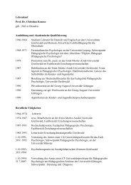 Lebenslauf - Georg-August-Universität Göttingen