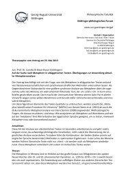 Thesenpapier (pdf) - Georg-August-Universität Göttingen