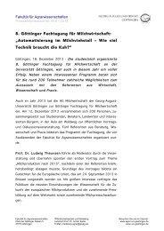 finden Sie auch eine Pressemitteilung! - Georg-August-Universität ...