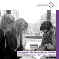 Polyvalenz in der Lehre - Ernst-Moritz-Arndt-Universität Greifswald