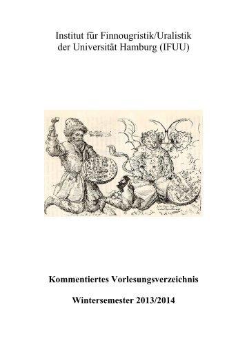 KVV Wintersemester 2013-2014 - Universität Hamburg