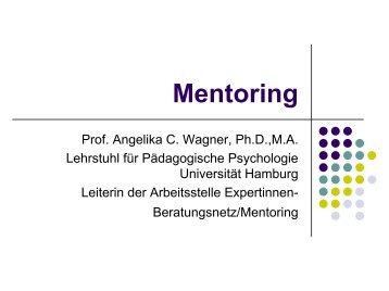 Mentoring Vortrag - Universität Hamburg