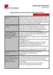 Unfallanzeige für Studierende der Universität Hamburg (PDF)