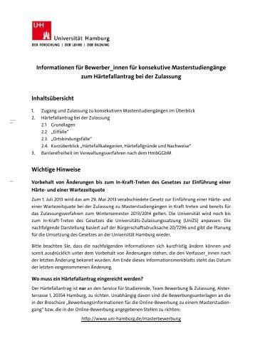 Informationen für Bewerber_innen für konsekutive ...