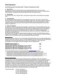 Sonderbedingungen für den Sparverkehr VL - Förde Sparkasse