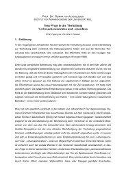 Neue Wege in der Tierhaltung - Christian-Albrechts-Universität zu Kiel