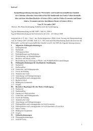 Entwurf Fachprüfungsordnung (Satzung) der Wirtschafts - Christian ...