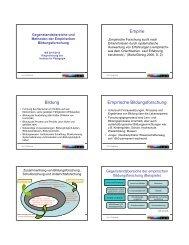 Folien: Gegenstandsbereiche und Methoden der Empirischen ...