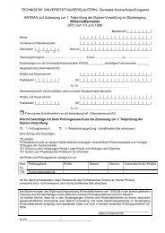 Zentrales Hochschulprüfungsamt ANTRAG auf Zulassung zur 1 ...