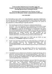 Förderrechtliche Maßnahmen bei Verstößen gegen die VOB/A und ...