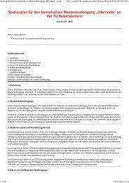 """Studienplan für den konsekutiven Masterstudiengang """"Informatik"""" an ..."""