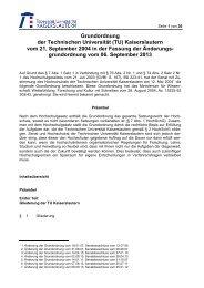 Grundordnung der Technischen Universität (TU) Kaiserslautern vom ...