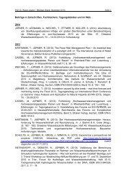 Beiträge, Stand November 2013 (pdf) - Universität Kaiserslautern